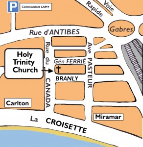 Cannes holy trinity church map