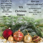DA Christmas Dinner 2015 - places still available
