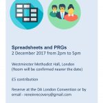 Spreadsheets and PRGs Workshop 02 Dec 2017